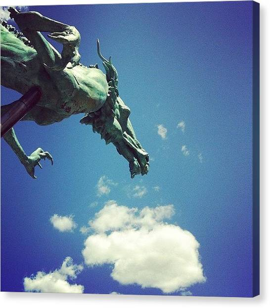 Philadelphia Canvas Print - Paul's Dragon by Katie Cupcakes