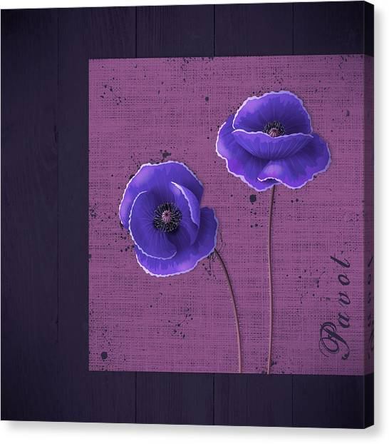 Fleur Canvas Print - Pavot - S01c09a by Variance Collections