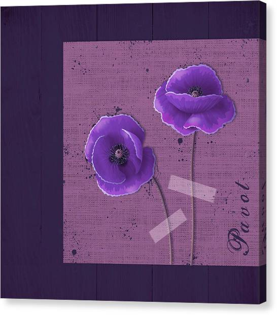 Fleur Canvas Print - Pavot - S02c09b by Variance Collections