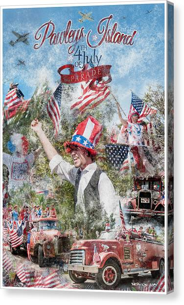Pawleys Island 4th Of July Parade Canvas Print