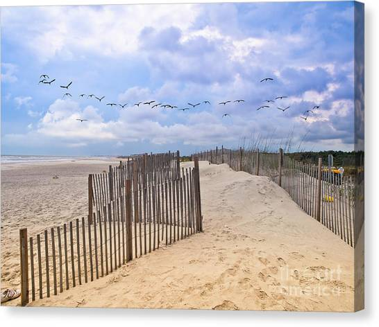 Pawleys Island Beach Scene Canvas Print