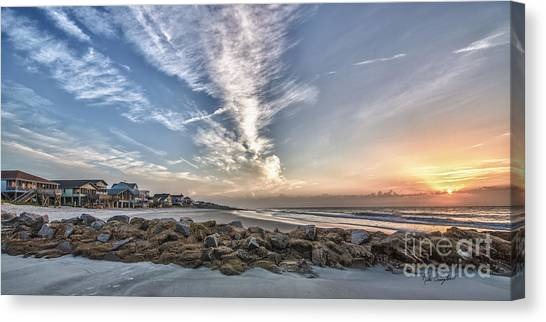 Pawleys Island Beach Sunrise Canvas Print