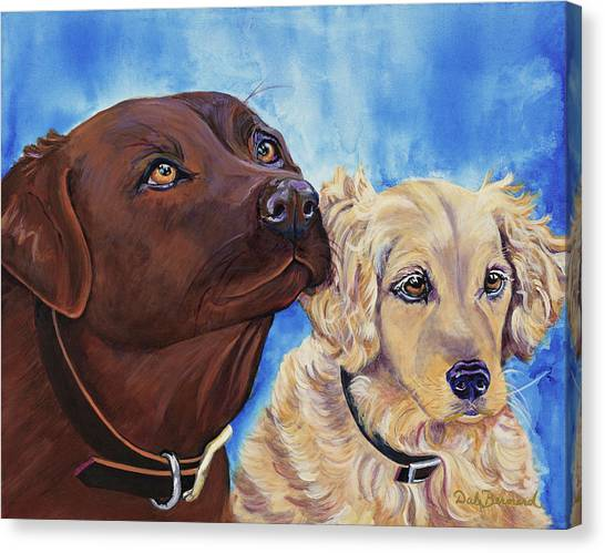 Pawsitively Friends Canvas Print
