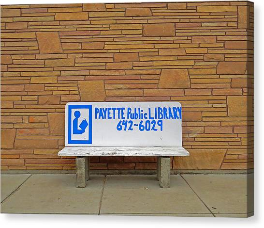 Payette Library Bench Canvas Print