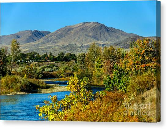 Payette River And Squaw Butte Canvas Print