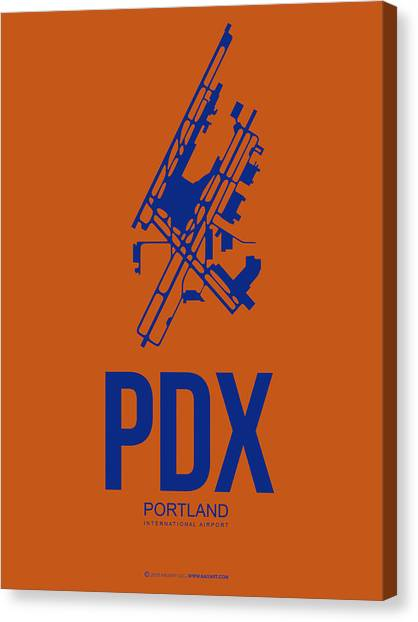 Oregon Canvas Print - Pdx Portland Airport Poster 1 by Naxart Studio