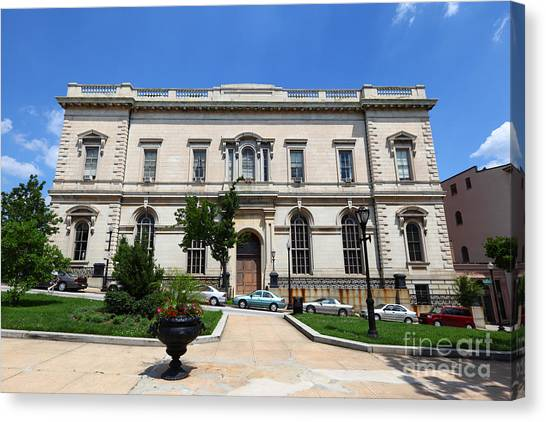 Johns Hopkins University Canvas Print - Peabody Institute Baltimore by James Brunker