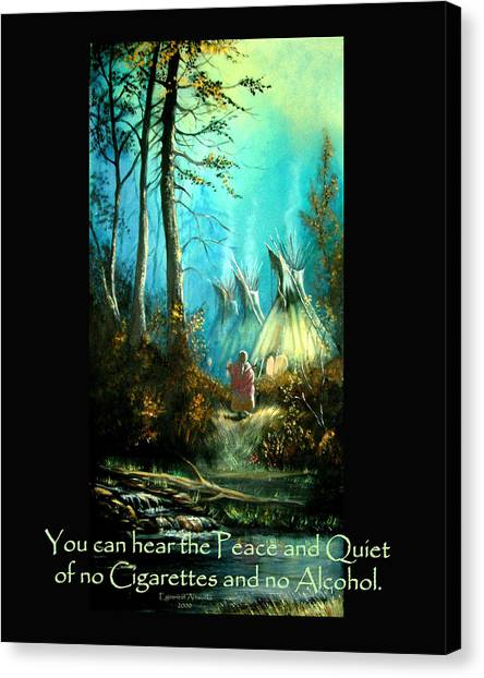 Peace And Quiet Drug Free Tepee Canvas Print