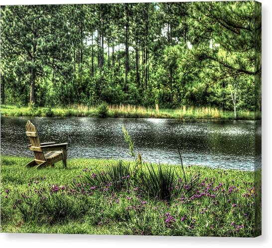Peace At The Pond Canvas Print by EG Kight