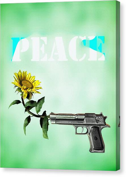 Gun Control Canvas Print - Peace  by Bob Orsillo