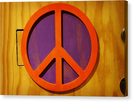 Peace Decal Canvas Print