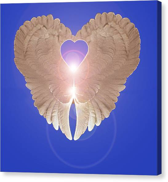 Canvas Print featuring the digital art Peace by Eric Kempson