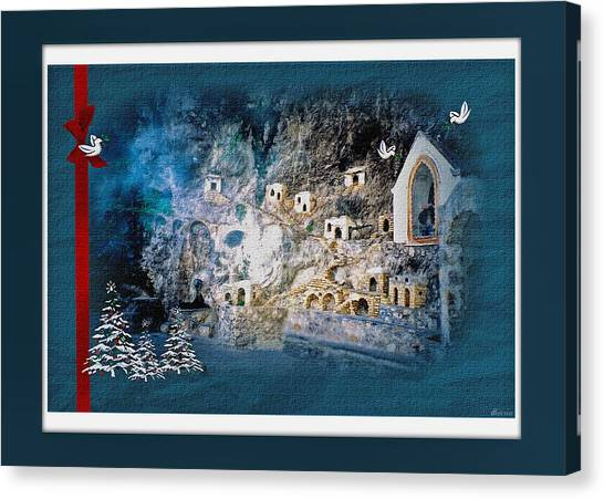 Peace In The Village Canvas Print