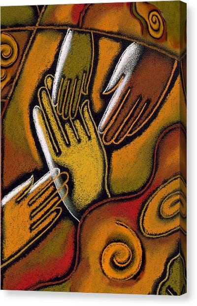 Anticipation Canvas Print - Peace by Leon Zernitsky