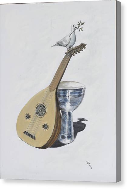 Djembe Canvas Print - Peace by Mr Dill