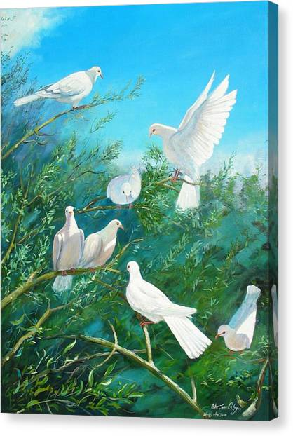 Peace On Earth Canvas Print by Peter Jean Caley