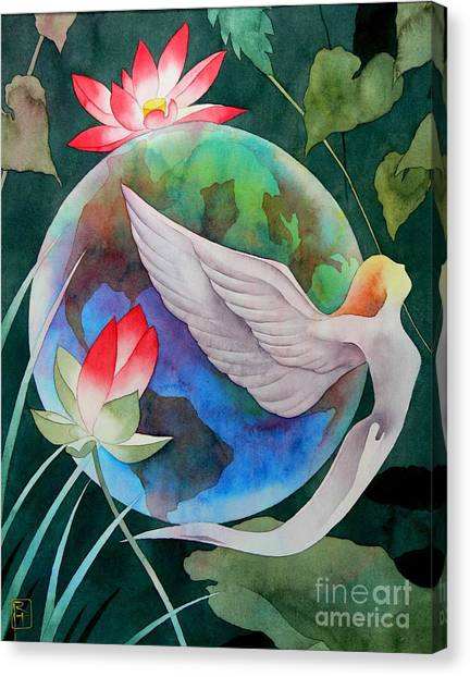 Angel Canvas Print - Peace On Earth by Robert Hooper