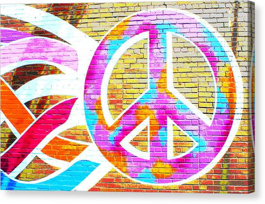 Peace Out Canvas Print