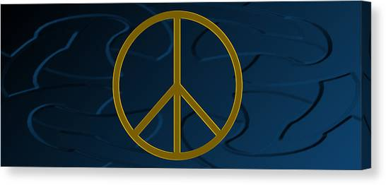 Peace Sign Canvas Print by Daryl Macintyre