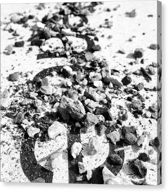 Black And White Canvas Print - Peace Under The Rubble by Christy Beckwith