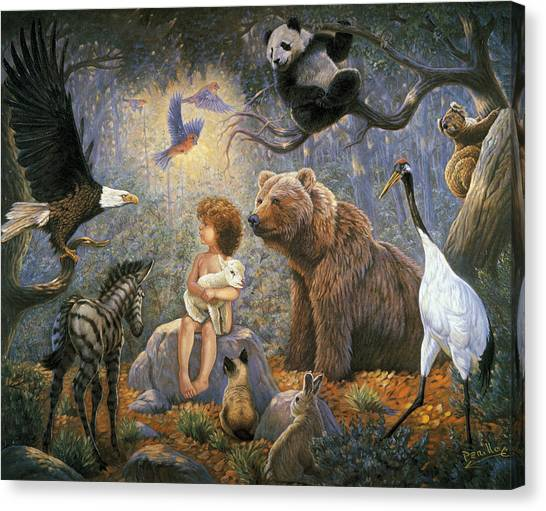 Care Bears Canvas Print - Peaceable Kingdom by Gregory Perillo