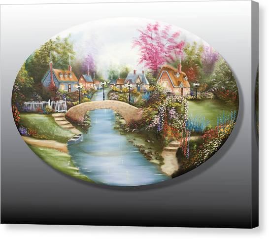 Peaceful Alpine Village 1 Canvas Print