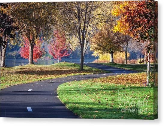 Peaceful Autumn Path II Canvas Print