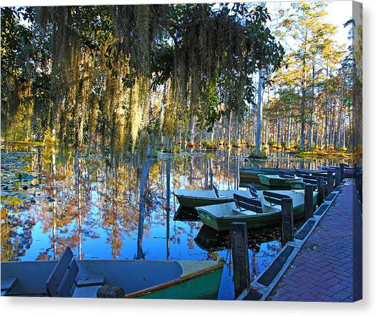 Peaceful Boat Landing By Jan Marvin Canvas Print