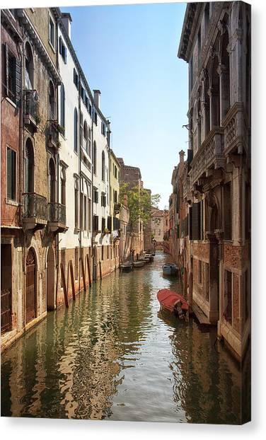 Peaceful Canal Canvas Print