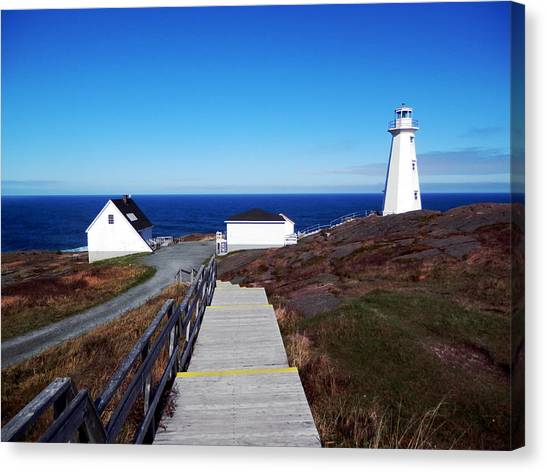 Newfoundland And Labrador Canvas Print - Peaceful Day At Cape Spear by Zinvolle Art