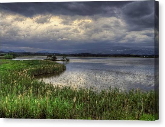 Peaceful Evening At The Lake Canvas Print