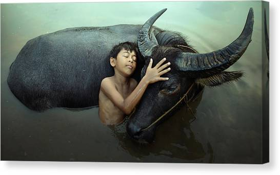 Peaceful Canvas Print by Fahmi Bhs