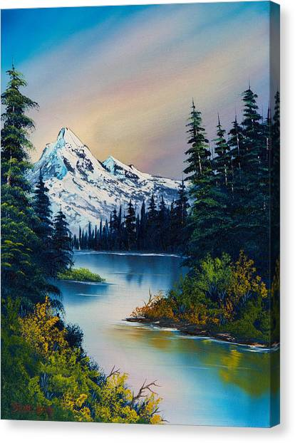 Bob Ross Canvas Print - Tranquil Reflections by Chris Steele