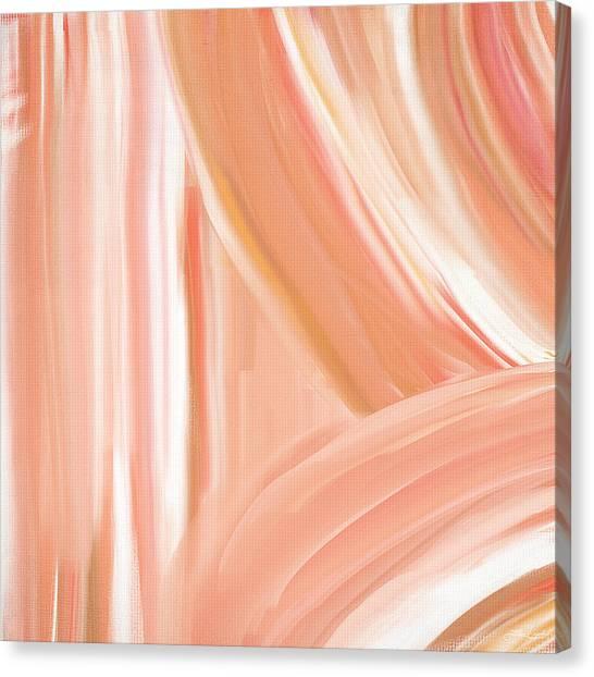 Light Paint Canvas Print - Peach Accent by Lourry Legarde
