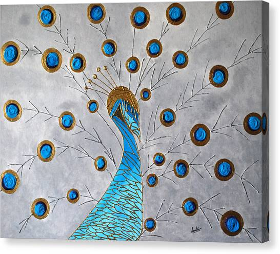 Peacock And Its Beauty Canvas Print