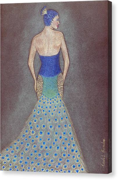 Peacock Fashion Inspiration Canvas Print by Nicole I Hamilton