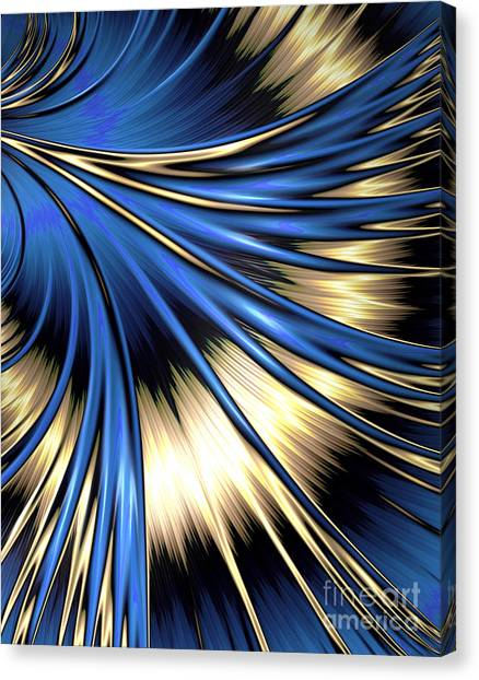 Peacock Tail Feather Canvas Print