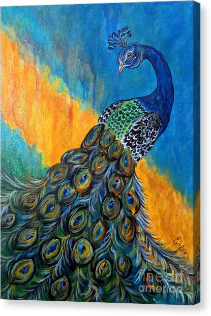 Peacock Waltz #3 Canvas Print