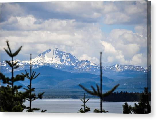Peaking The Clouds Canvas Print