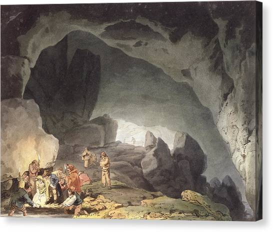 Caverns Canvas Print - Peaks Hole, Derbyshire by Joseph Mallord William Turner