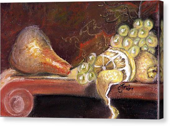 Pear Canvas Print by CJ  Rider