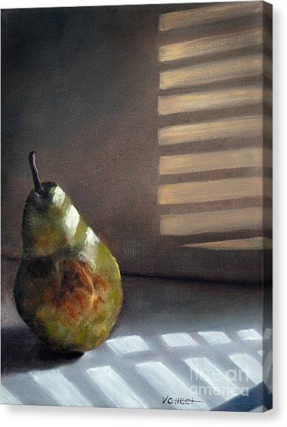 Pear In Morning Light Canvas Print