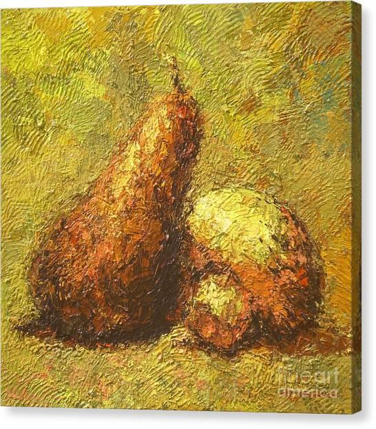 Pear Canvas Print by Max Yamada
