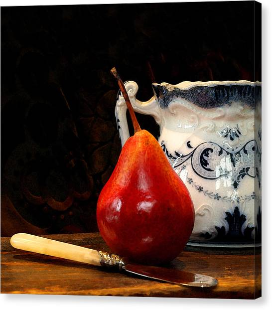 Pear Pitcher Knife Canvas Print