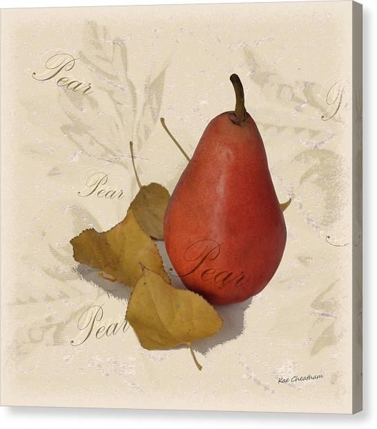 Pear Square Canvas Print