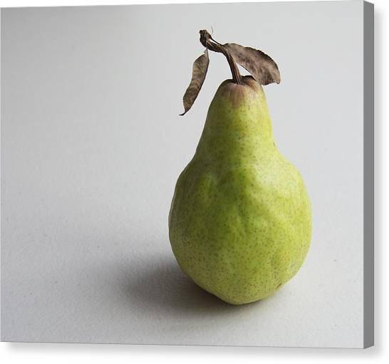 Canvas Print featuring the photograph Pear Still Life Protrait by Jocelyn Friis