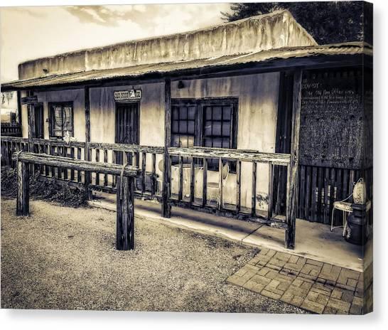 Pearce Arizona Post Office Canvas Print by Barb Hauxwell