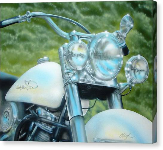 Pearl And Chrome Canvas Print