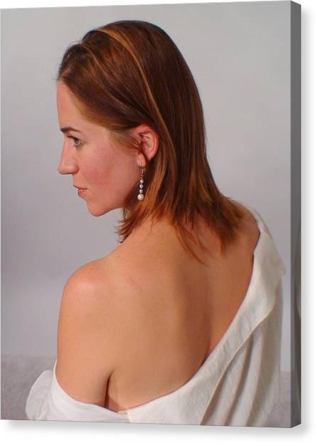 Pearl Earring Canvas Print