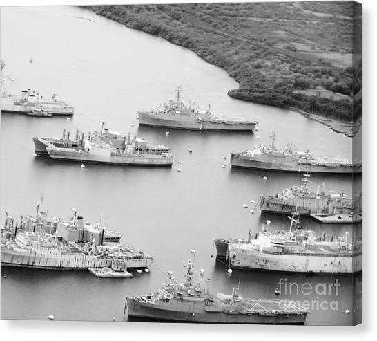 Pearl Harbor Battleships Canvas Print